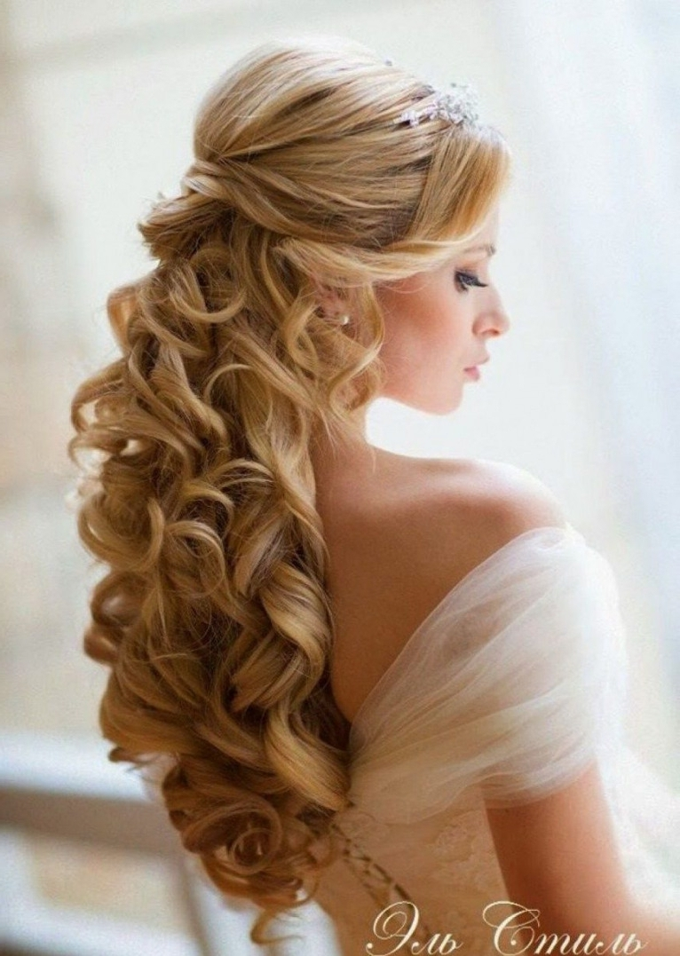 Most Up To Date Up And Down Wedding Hairstyles Within Bridal Hairstyles Half Up Down Medium Length Hair African American (View 11 of 15)