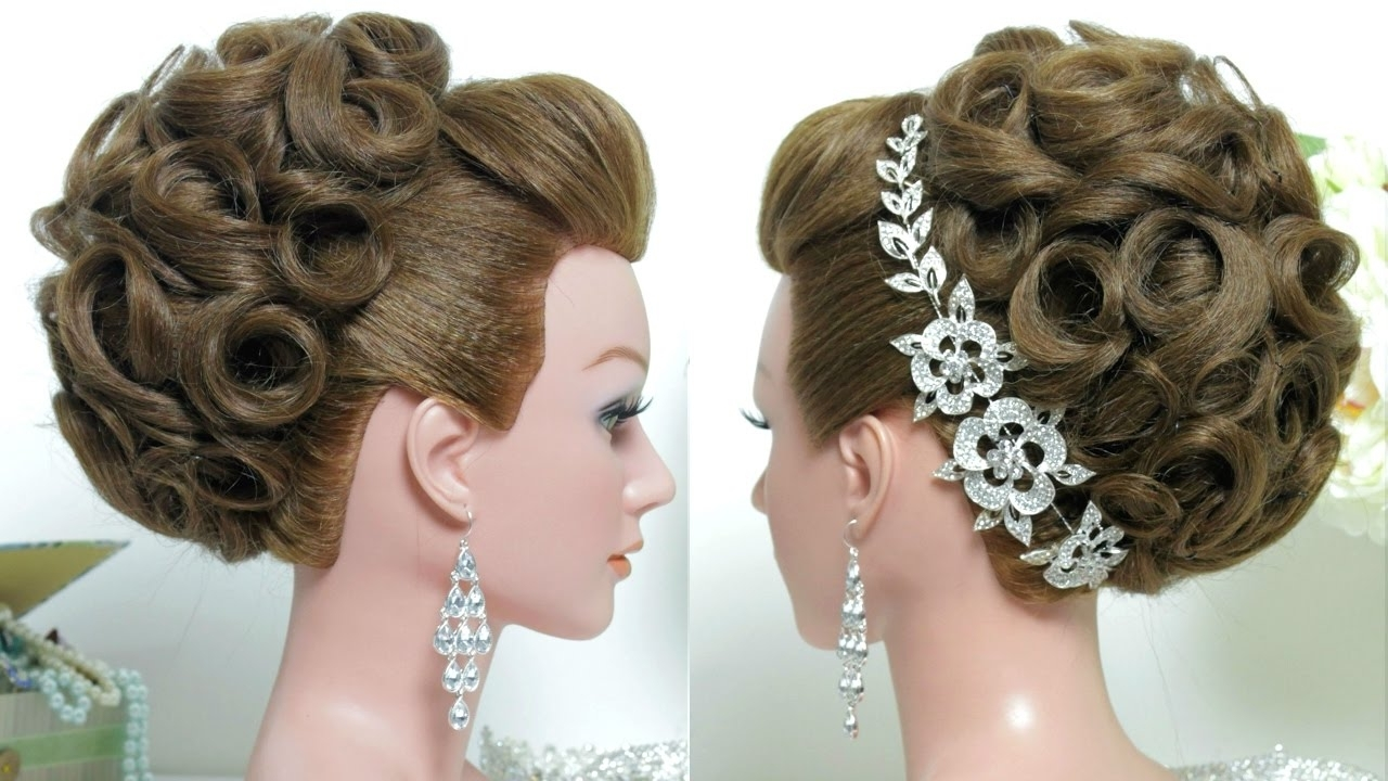 Most Up To Date Wedding Hairstyles For Bridesmaid Within Bridal Hairstyle. Wedding Updo For Long Hair Tutorial (View 7 of 15)