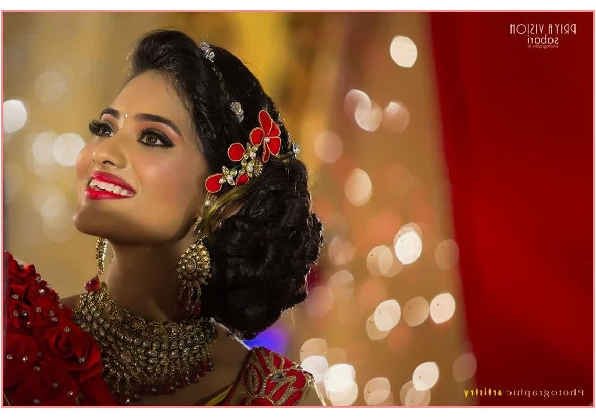 Most Up To Date Wedding Hairstyles For Lehenga Intended For Beautiful Hairstyles Hairstyle For Wedding With Lehenga – Best (View 10 of 15)
