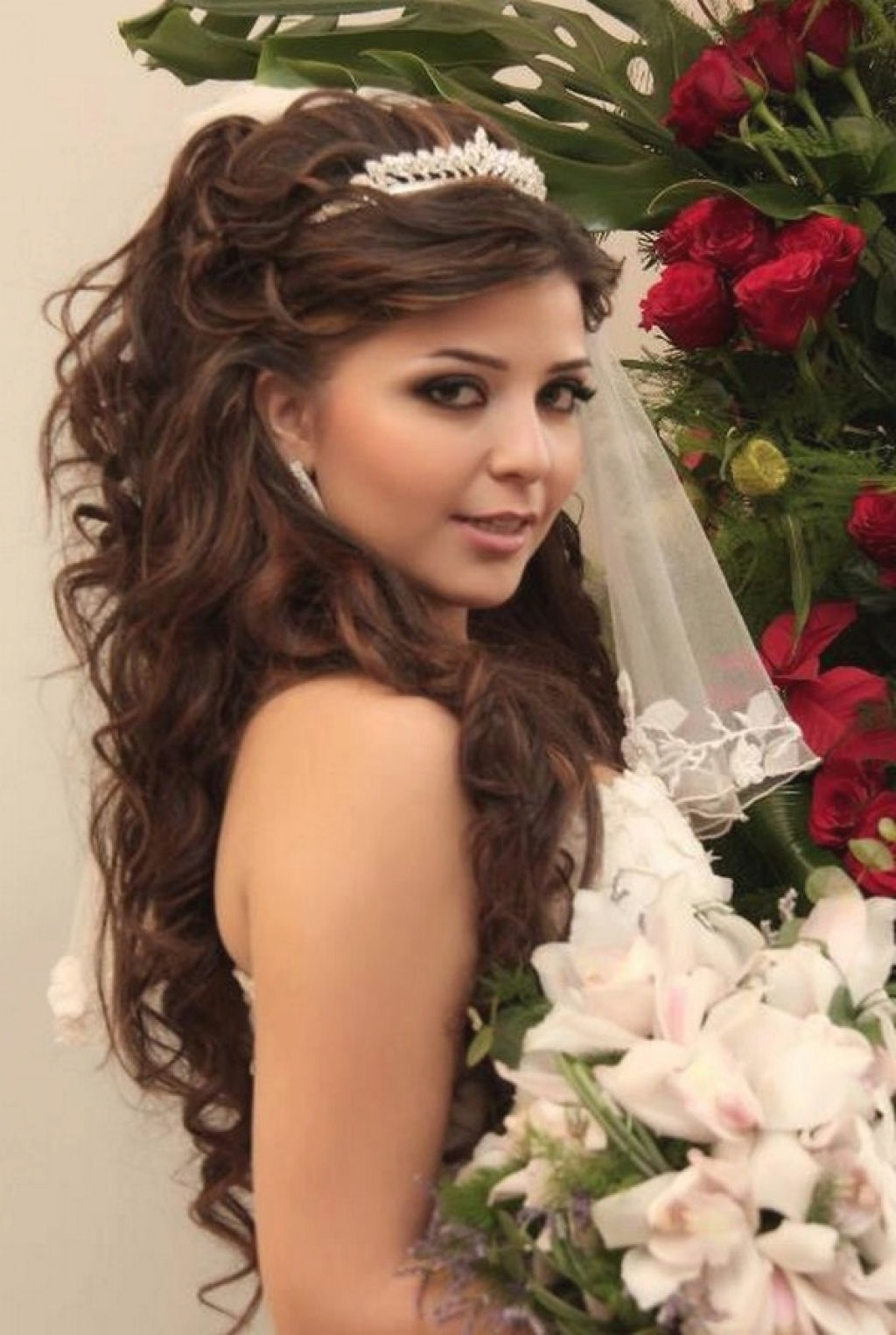 Most Up To Date Wedding Hairstyles For Long Dark Hair With Regard To Bridal Hairstyles For Long Dark Hair (View 9 of 15)