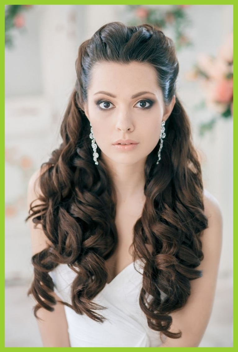 Most Up To Date Wedding Hairstyles For Long Hair Without Veil Intended For Appealing Wedding Hairstyles For Long Hair With Veil Styles Pics (View 11 of 15)