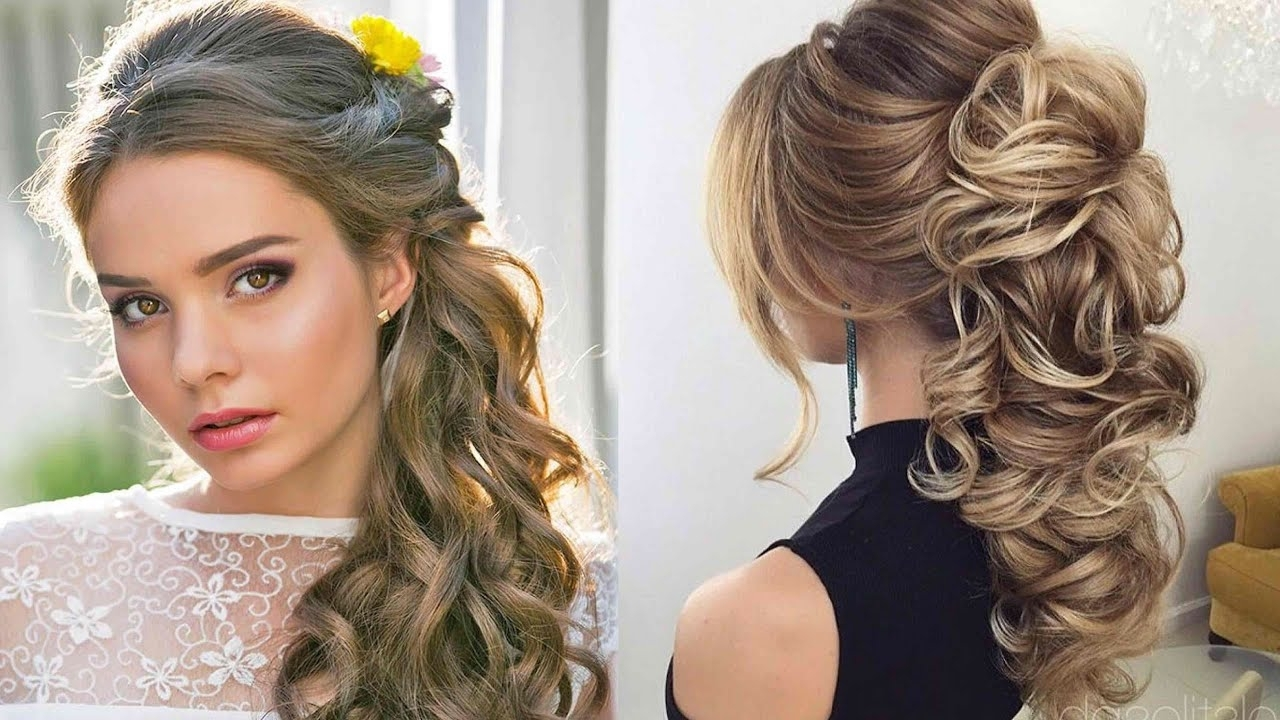 Most Up To Date Wedding Hairstyles For Medium Length Dark Hair In The Most Popular And Elegant Wedding Hairstyles Tutorials Of  (View 10 of 15)