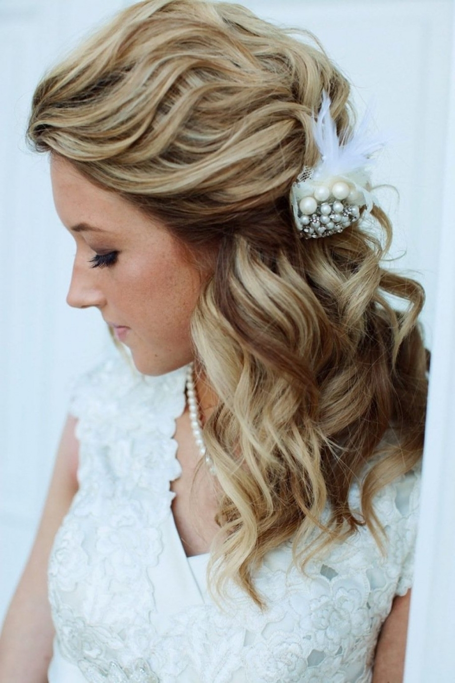 Most Up To Date Wedding Hairstyles For Medium Length Hair With Bangs In √ 24+ Awesome Wedding Hairstyles For Shoulder Length Hair: Cute (View 7 of 15)