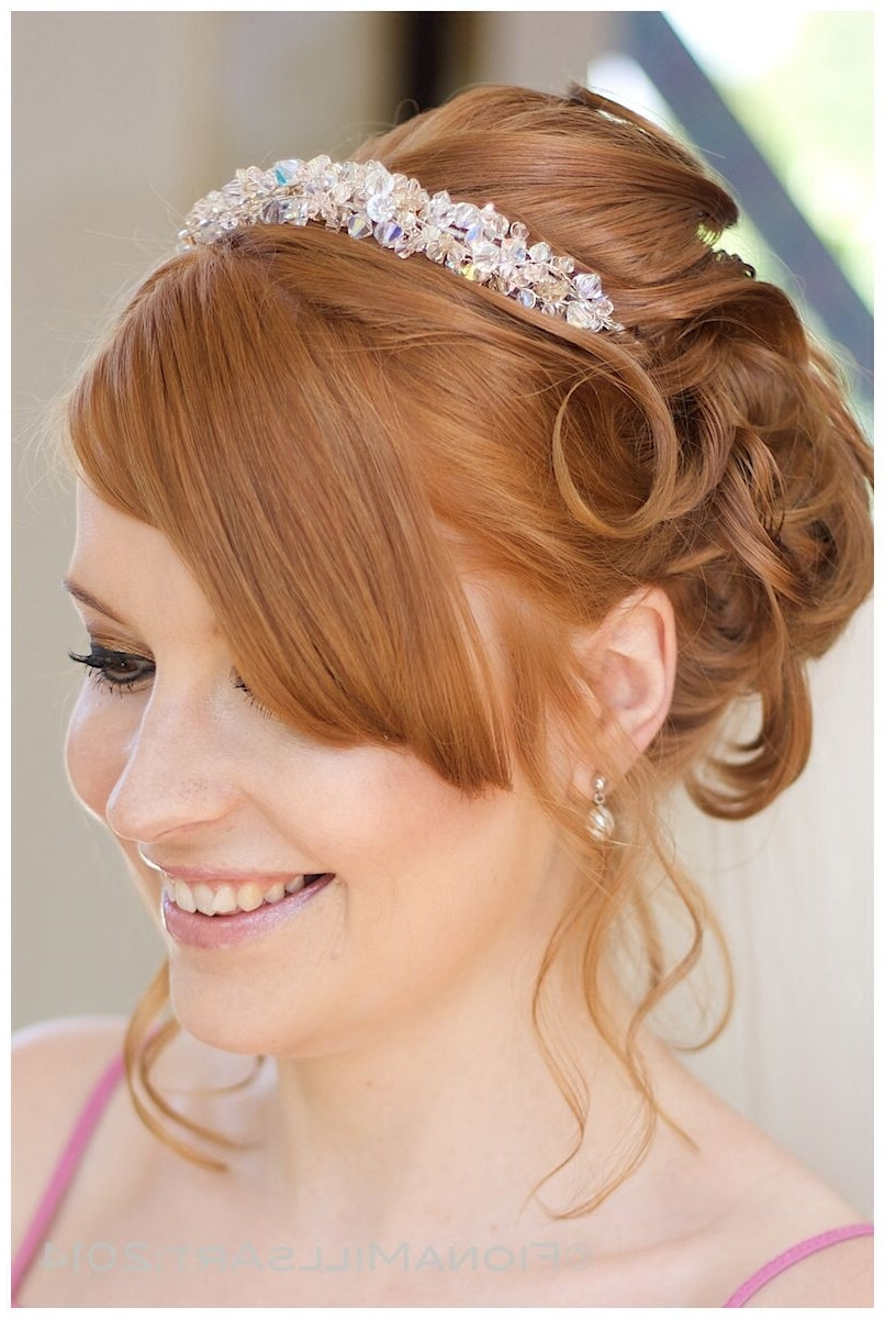 Most Up To Date Wedding Hairstyles For Medium Length Hair With Tiara With Smokey Eye Make Up, Wedding Day Style For Hair And Makeup (View 7 of 15)
