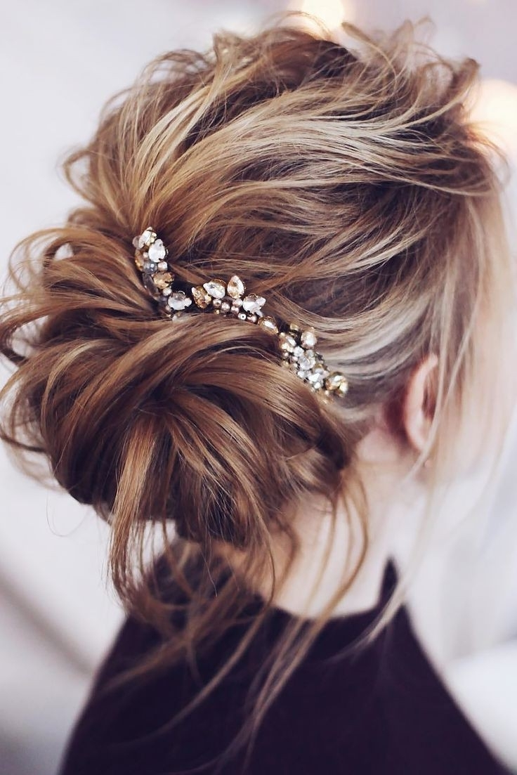 Most Up To Date Wedding Hairstyles For Mid Length Hair With Fringe Pertaining To Weddingtyles For Long Hair Half Up Stunning Medium Length Ideas (View 5 of 15)