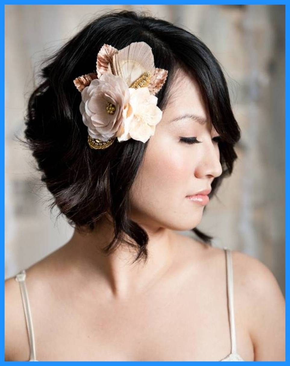 Most Up To Date Wedding Hairstyles For Short Hair For Bridesmaids Throughout Appealing Bridal For Short Hair Simple Hairstyle Ideas Women Pics Of (Gallery 15 of 15)