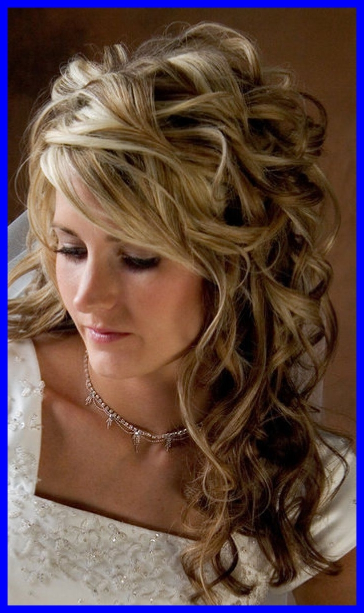 Most Up To Date Wedding Hairstyles Long Side Ponytail Hair Intended For Inspiring Side Ponytail Curly Half Up Wedding Hairstyles For Long (View 10 of 15)
