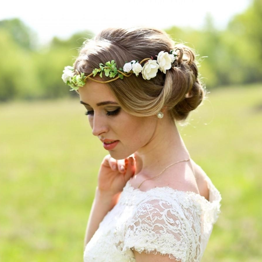 Most Up To Date Wedding Hairstyles With Crown For Epic Flower Crown Wedding Hairstyles 26 In Inspirational Wedding (View 5 of 15)