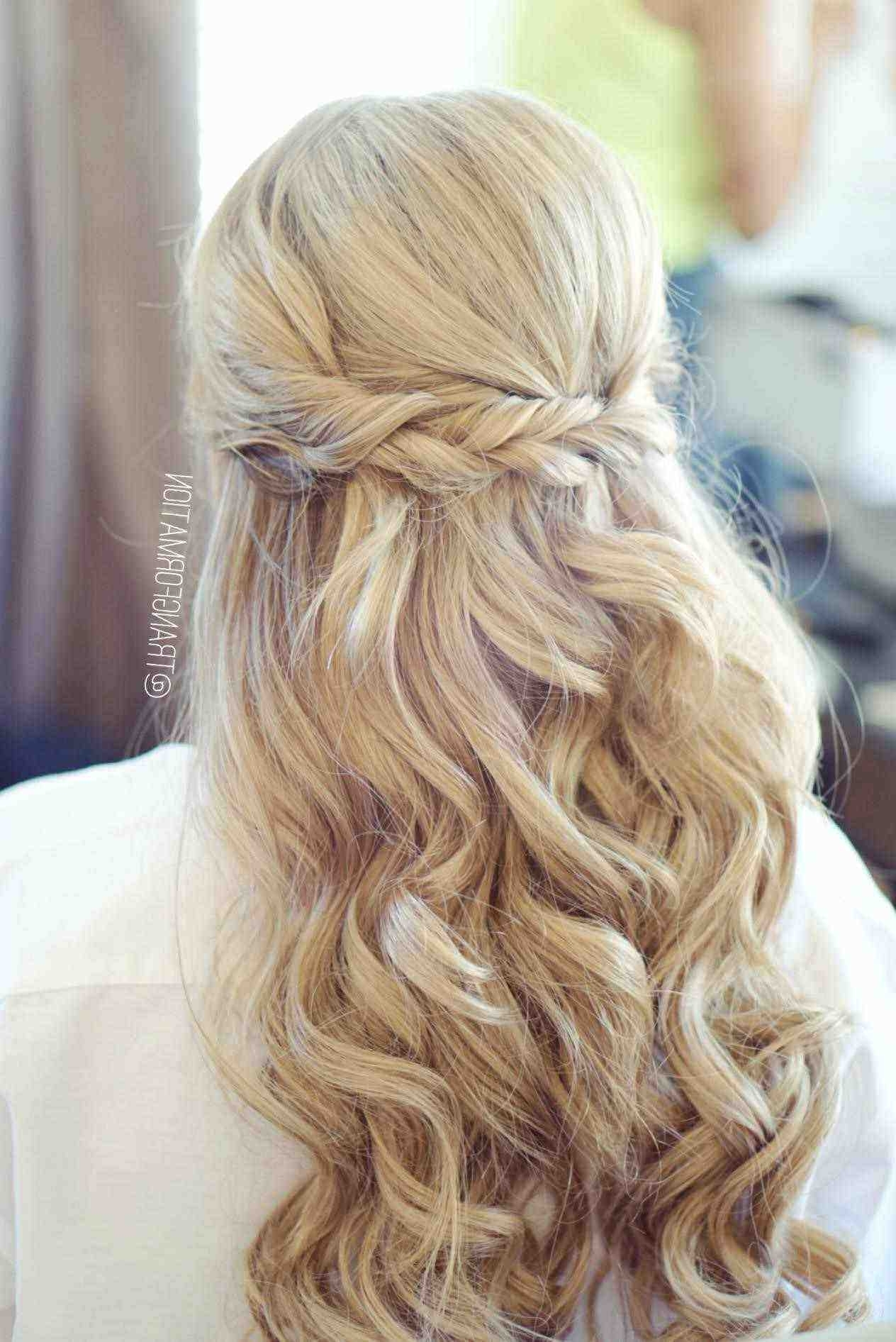 Mother Of The Bride Hairstyles For Short Hair Inspirational Bridal Throughout Most Recent Half Up Wedding Hairstyles For Bridesmaids (View 9 of 15)