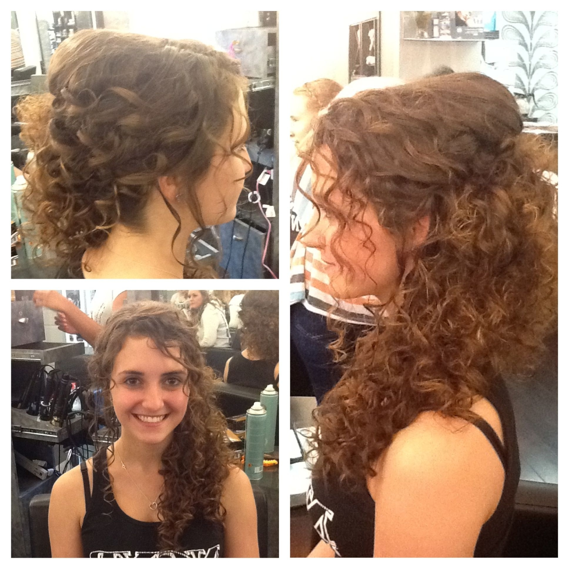 Natural Curly Hair Swept To The Side (View 9 of 15)