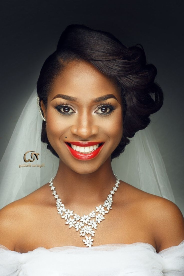 Natural Hair, Bridal Regarding 2017 Short Wedding Hairstyles For Black Bridesmaids (View 9 of 15)