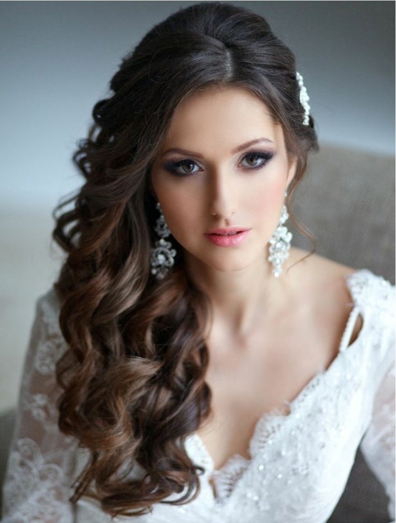 New Wedding Hairstyles Long Hair Down 17 Ideas With Wedding With Most Recently Released Long Hair Down Wedding Hairstyles (View 11 of 15)
