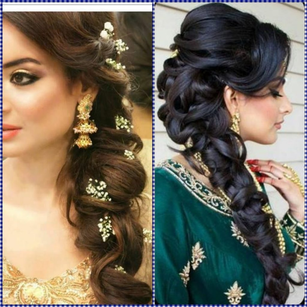 Newest Braided Hairstyles For Long Hair Indian Wedding Throughout Long Hair Style With Bread Indian Wedding Hairstyles For Mid To Long (View 11 of 15)