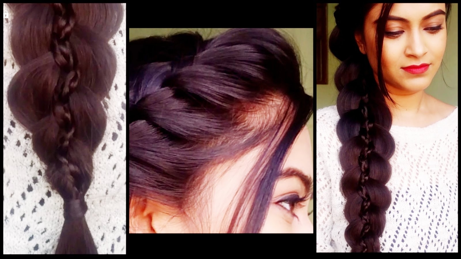 Newest Braided Hairstyles For Long Hair Indian Wedding With Regard To Braided 5 Strand Braid – Hairstyles For Medium/long Hair Prom (View 12 of 15)