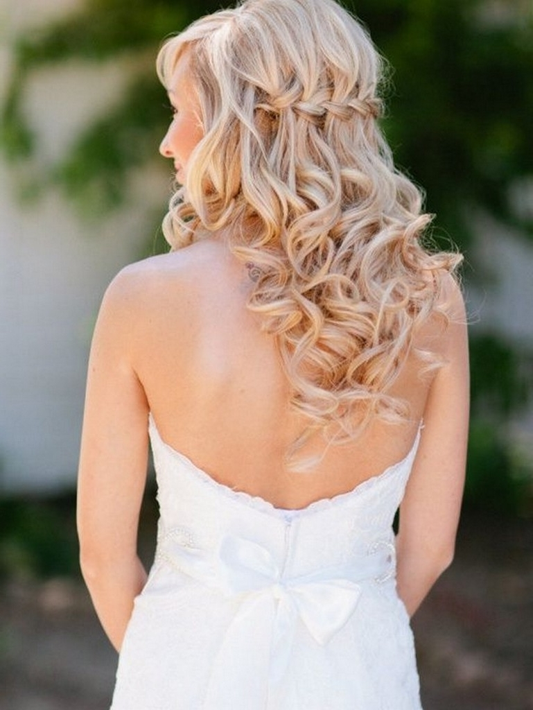 Newest Down Curly Wedding Hairstyles Pertaining To Wedding Hairstyles Ideas: Back Braided Curly All Down Hairstyles For (View 13 of 15)
