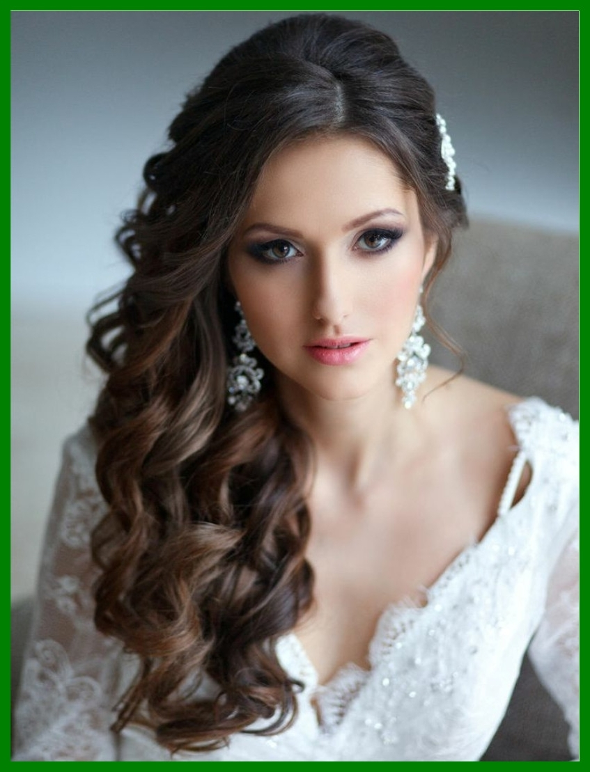 Newest Down Long Hair Wedding Hairstyles Throughout Stunning New Wedding Hairstyles Long Hair Down Ideas With Pict Of (View 8 of 15)