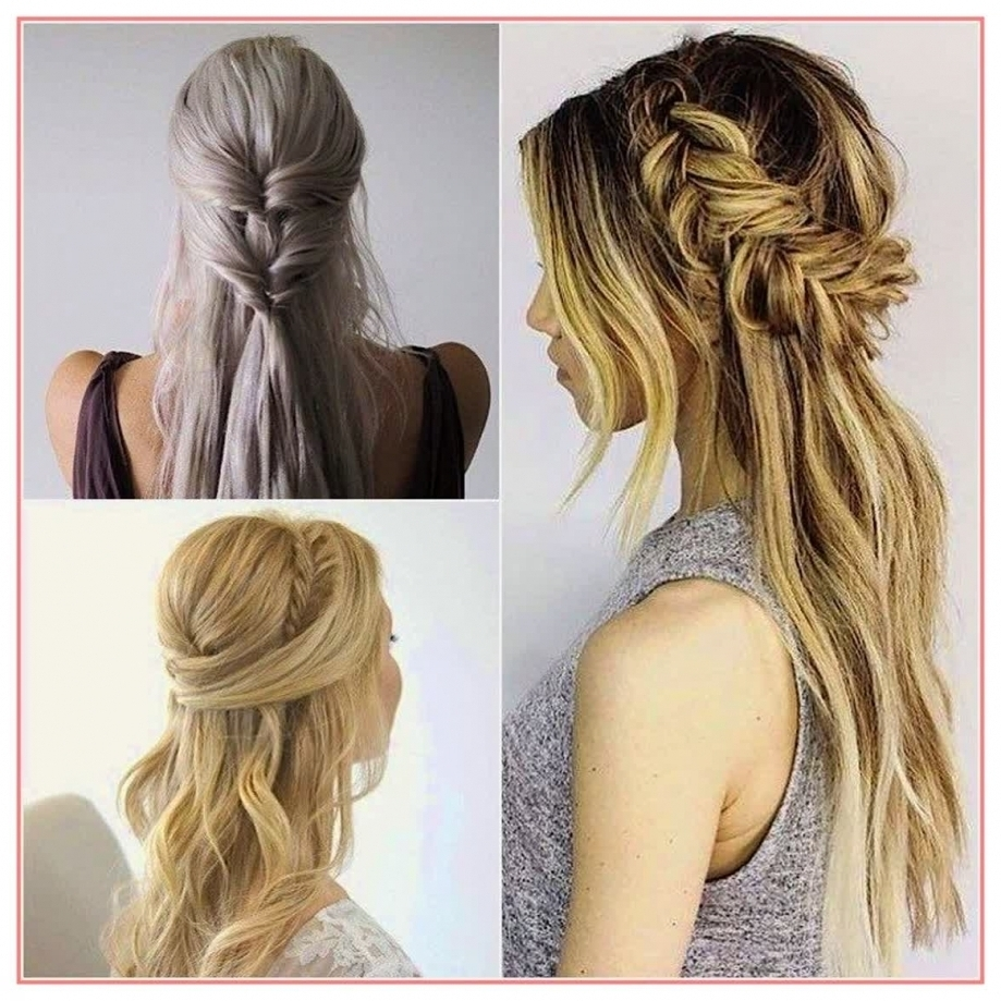 Newest Down Straight Wedding Hairstyles Pertaining To Awesome Hairstyles Half Up Half Down Wedding Hairstyles Straight For (View 10 of 15)