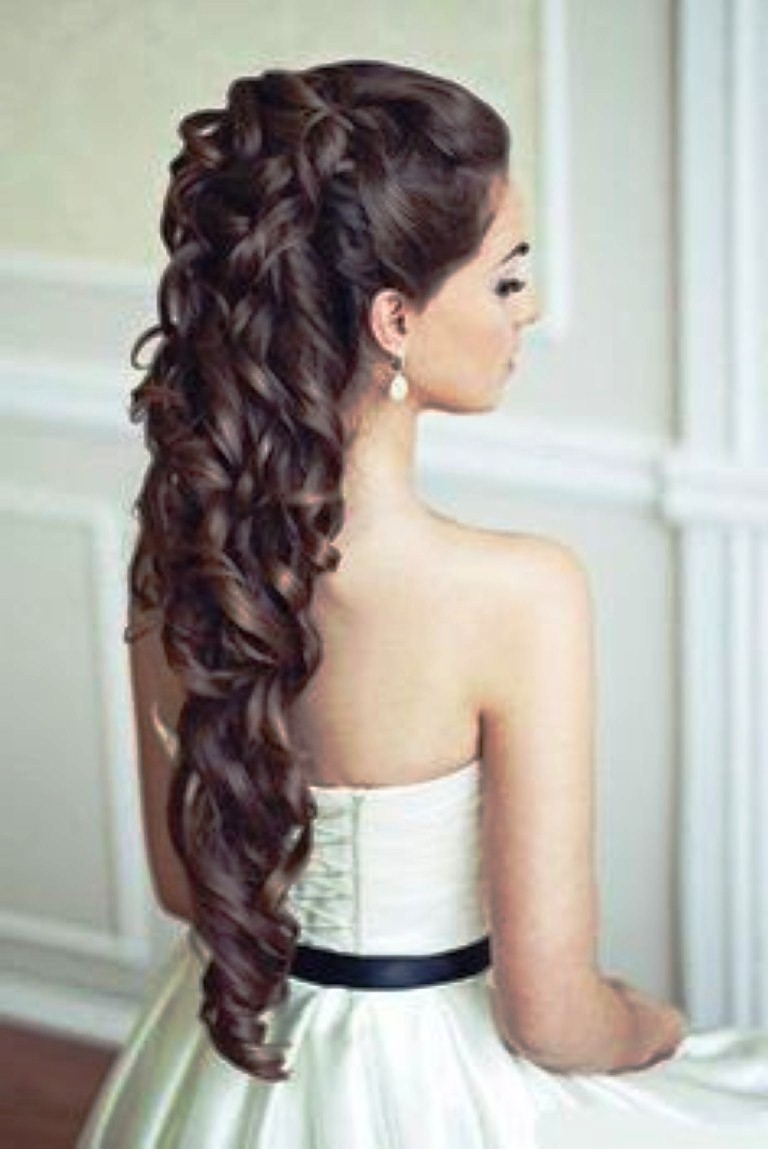 Photo Gallery Of Hairstyles For Long Hair For A Wedding