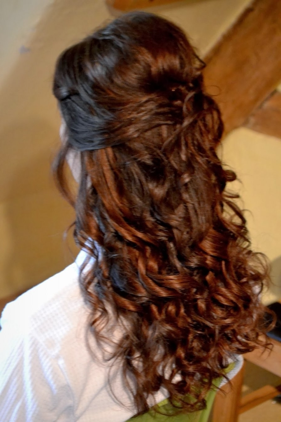 Newest Half Up Wedding Hairstyles For Long Hair Within Bridesmaid Hairstyles For Long Hair Half Up Fancy And Romantic (View 11 of 15)