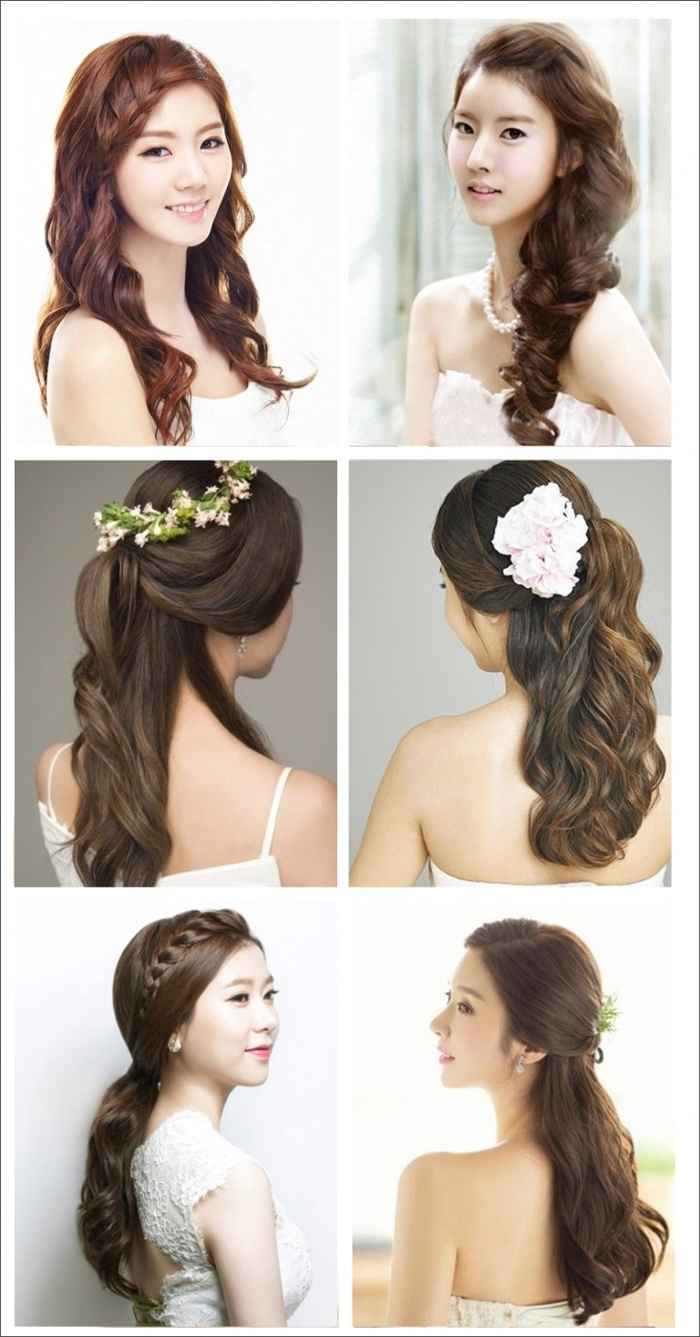 Newest Korean Wedding Hairstyles For Long Hair Intended For Magnificent Wedding Hairstyles Asian – So Beautiful! (View 13 of 15)