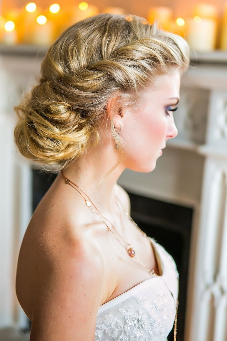 Newest Messy Wedding Hairstyles For Long Hair In Updos For Long Hair Bridal Wedding Hairstyles Ideas: Side Ponytail (View 9 of 15)