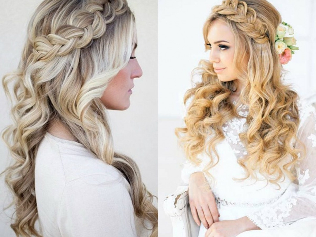 Newest Up And Down Wedding Hairstyles Within Ideas Gorgeous Half Up Down Wedding Hairstyle Hair Updos Hairstyles (View 2 of 15)