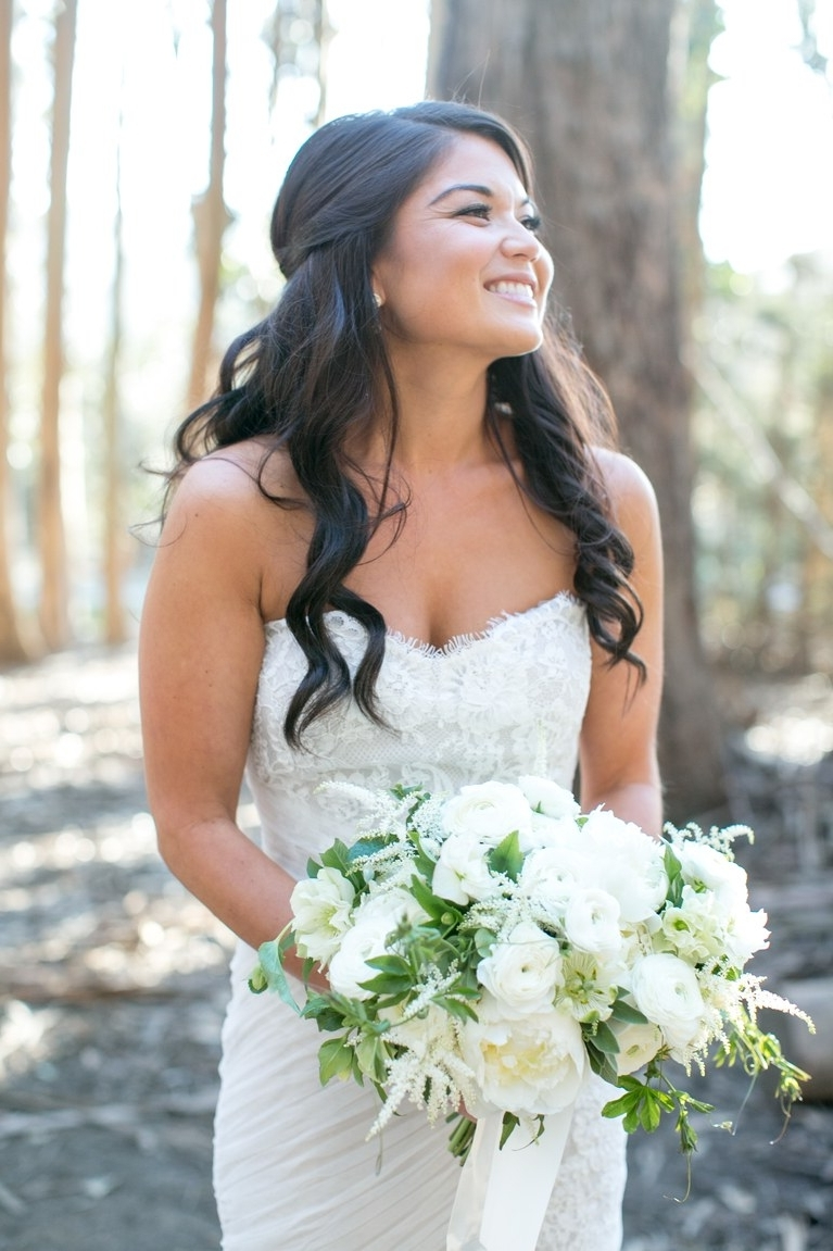 Newest Wedding Hairstyles For A Strapless Dress Within The 60 Prettiest Bridal Hairstyles From Real Weddings (View 9 of 15)