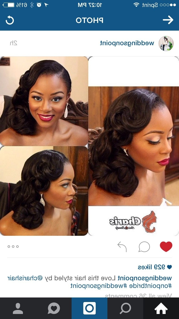 Newest Wedding Hairstyles For African American Bridesmaids Regarding Beautiful Pin Up For The Bride! Weddings On Point (View 11 of 15)