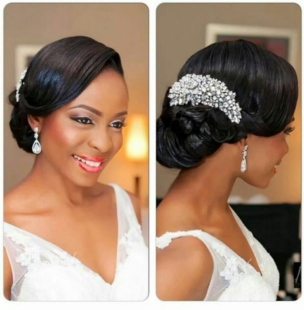 Newest Wedding Hairstyles For Black Woman With Regard To √ 24+ Awesome Hairstyle For Black Women: Wedding Hairstyle Black (View 8 of 15)