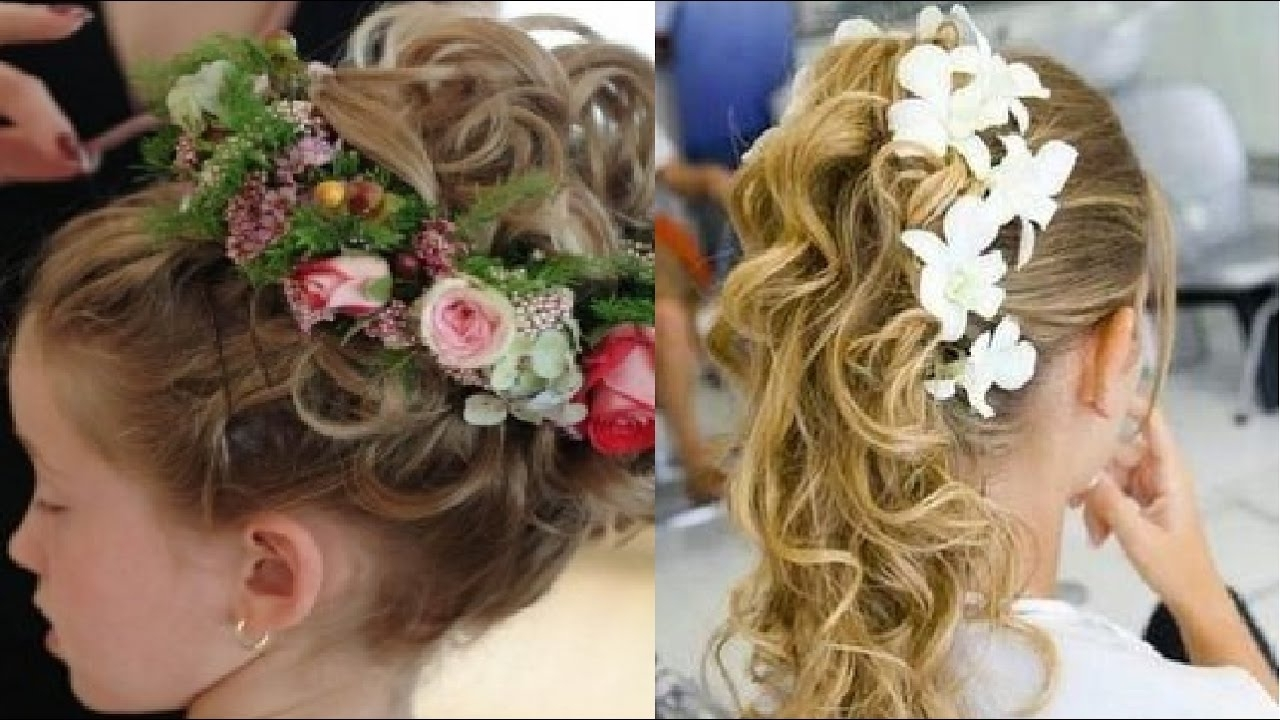 Newest Wedding Hairstyles For Kids Pertaining To Hair Style For Kids In Wedding – Youtube (View 11 of 15)