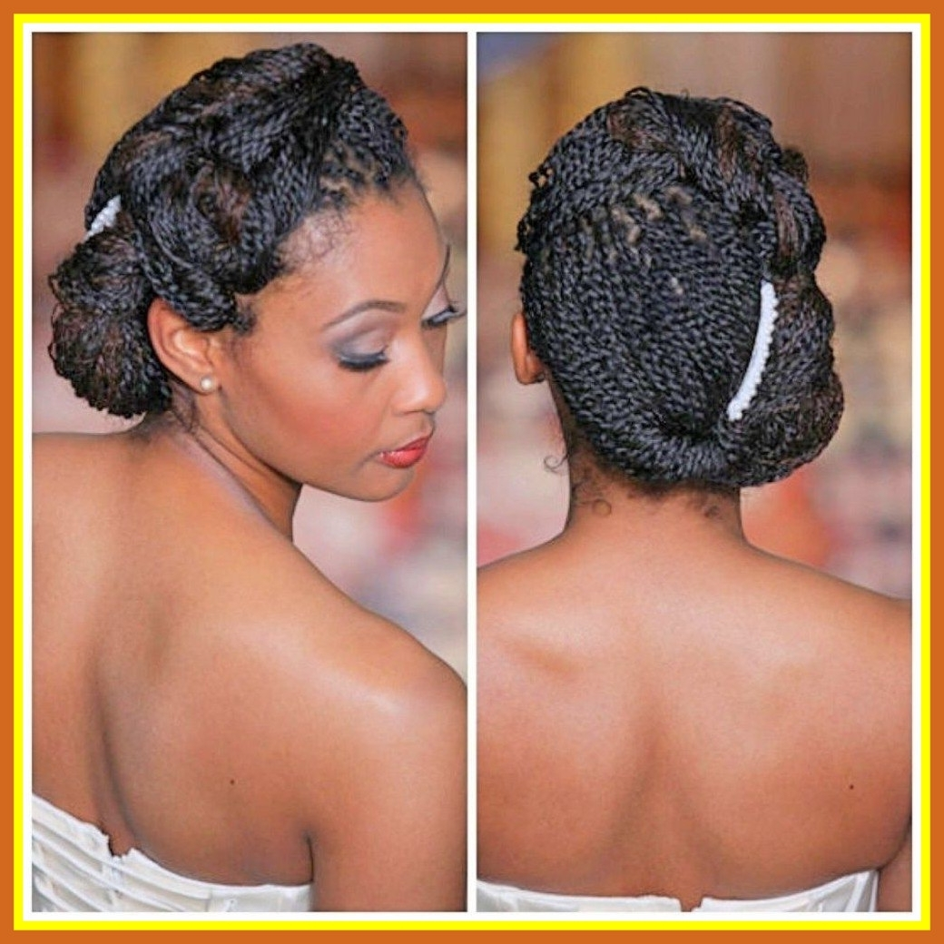 Newest Wedding Hairstyles For Kinky Hair Regarding Marvelous Black Hair Updo Hairstyles Braided Wedding For African (View 12 of 15)