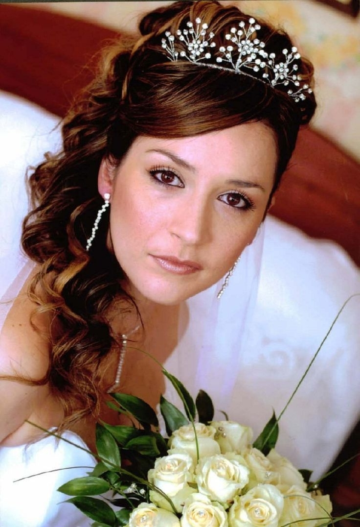 Photo Gallery Of Wedding Hairstyles For Long Hair With Round Face