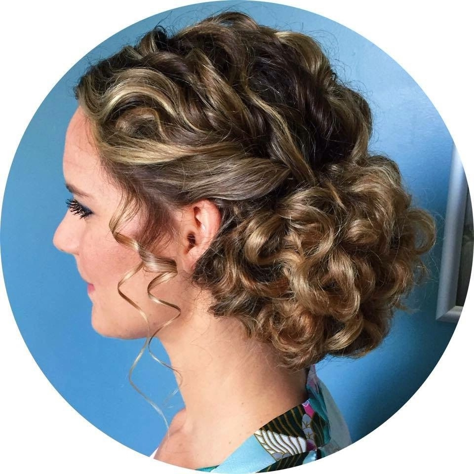 Newest Wedding Hairstyles For Long Natural Curly Hair Inside Love This Naturally Curly Updo For A Bride Or Prom Https://www (View 10 of 15)