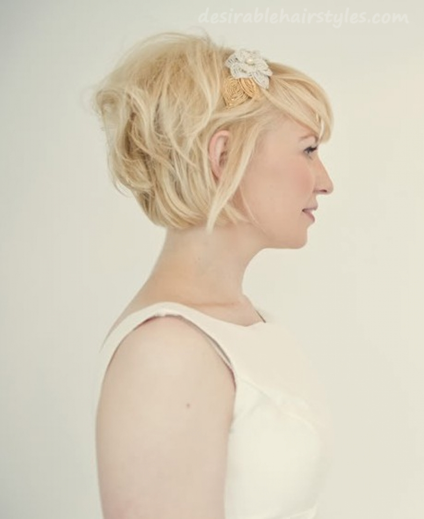 Newest Wedding Hairstyles For Short Blonde Hair Inside 27 Clever Images Of Wedding Hairstyles For Short Blonde Hair (View 11 of 15)