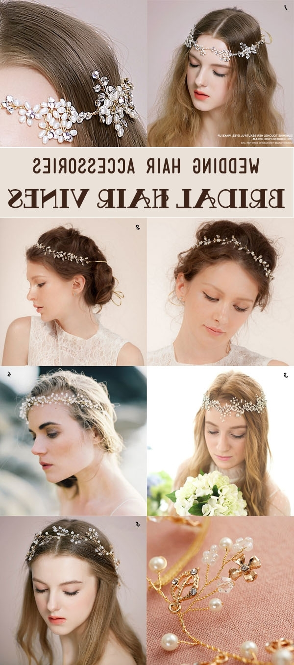 Newest Wedding Hairstyles With Hair Accessories Pertaining To 25 Most Gorgeous Bridal Hair Accessories For Every Hairstyles (View 7 of 15)