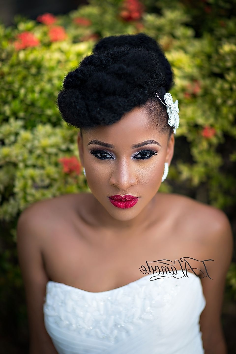 Nigerian Bridal Natural Hair And Makeup Shoot – Black Bride For Latest Ebony Wedding Hairstyles (View 8 of 15)