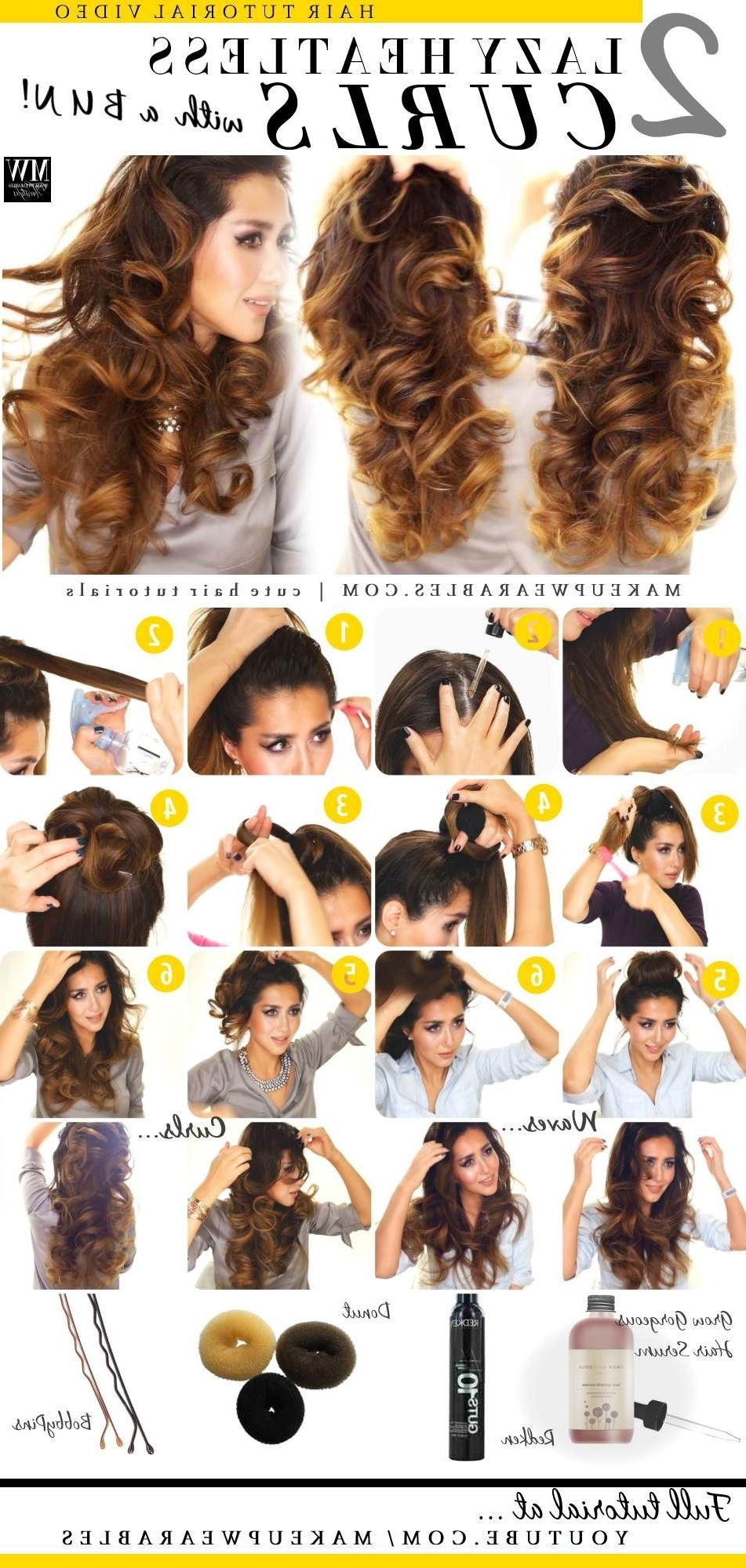 No Heat Curl #hairstyles (Gallery 2 of 15)