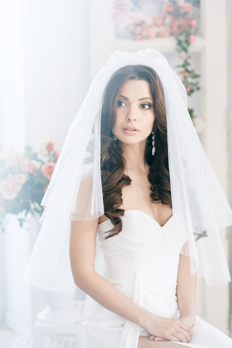 Open Wedding Hairstyle For Long Hair, Veil (View 2 of 15)