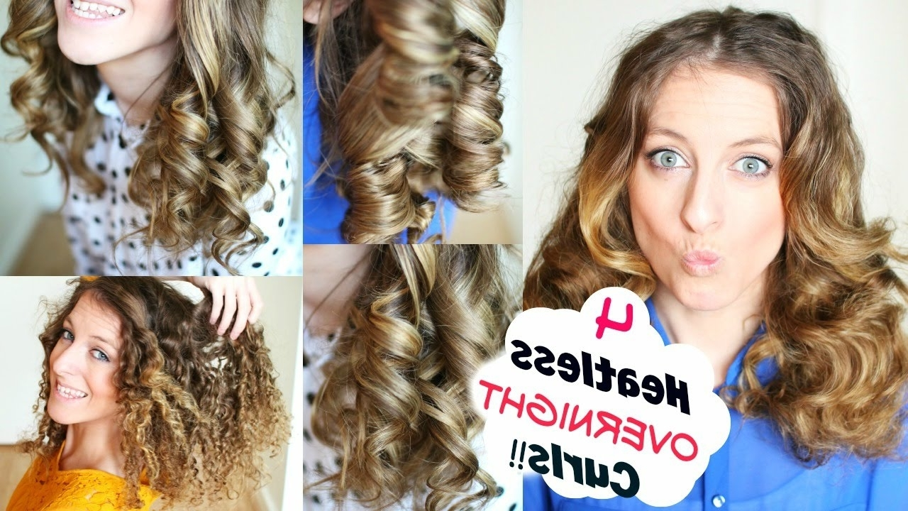 Overnight Heatless Curl Methods Inside Newest Wedding Hairstyles Without Heat (View 13 of 15)