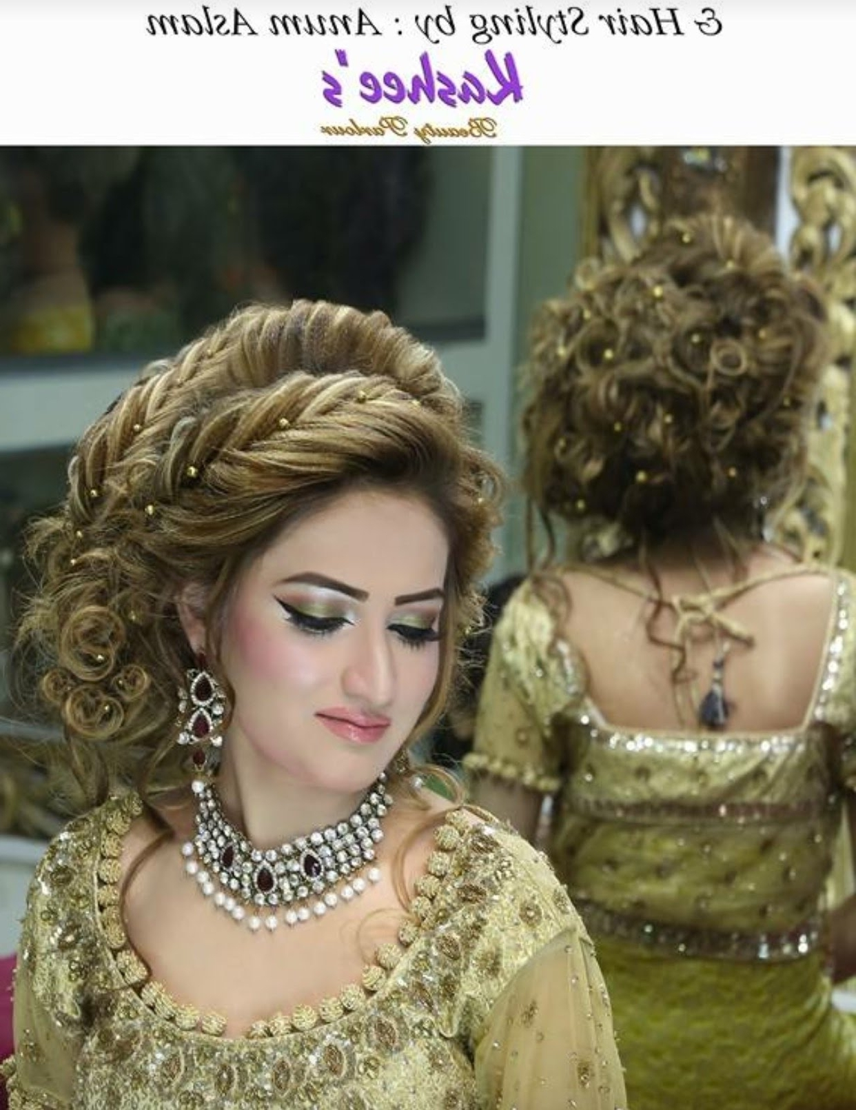 Pakistani Bridal Hairstyle Stepstep Full Tutorial – Youtube Within Current Pakistani Wedding Hairstyles (View 6 of 15)