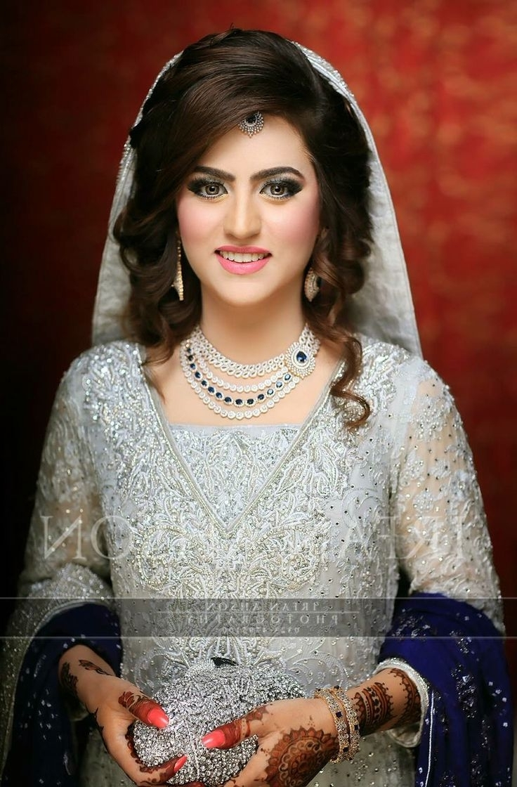 Pakistani Wedding Hairstyles Bridal Hairstyle Stepfull Tutorial Regarding Best And Newest Pakistani Wedding Hairstyles (View 5 of 15)
