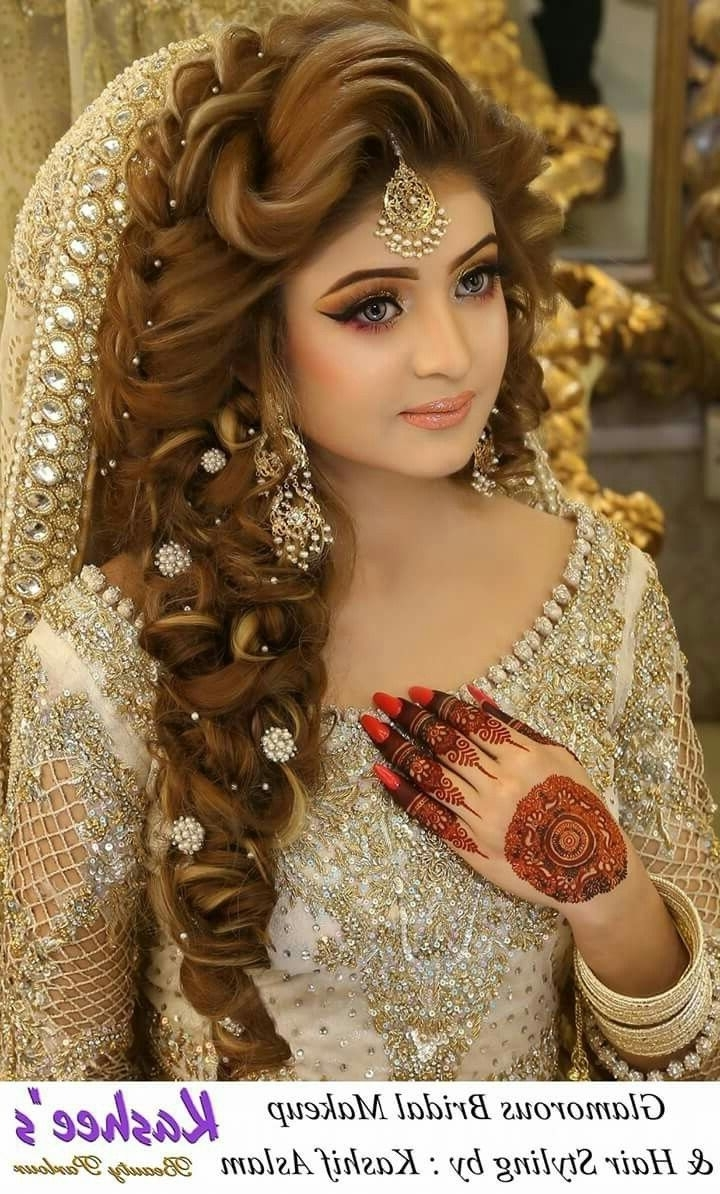 Pakistani Wedding Hairstyles For Short Hair Top Long Stock Photos Hd Throughout Most Recently Released Pakistani Wedding Hairstyles (View 4 of 15)