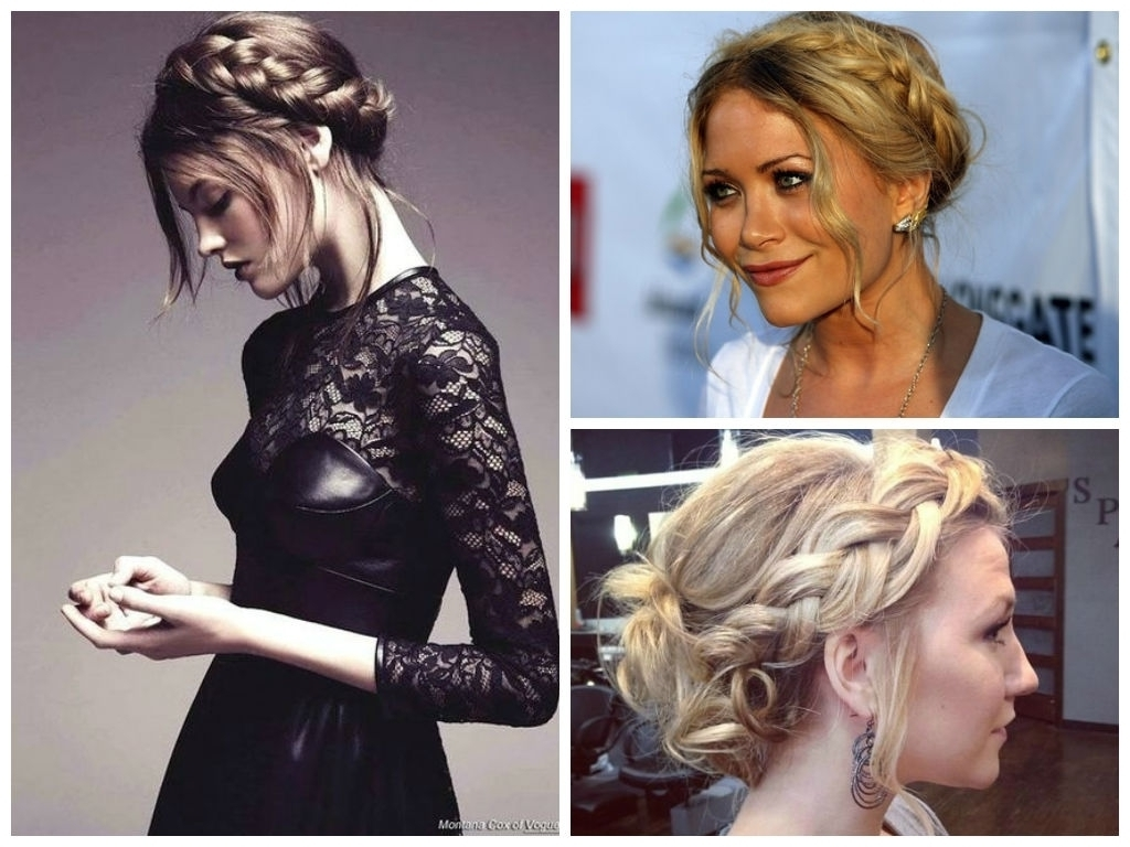Photo: Braided Hair Style For Round Faces Wedding Hairstyles For A Intended For Newest Wedding Hairstyles For Your Face Shape (View 13 of 15)