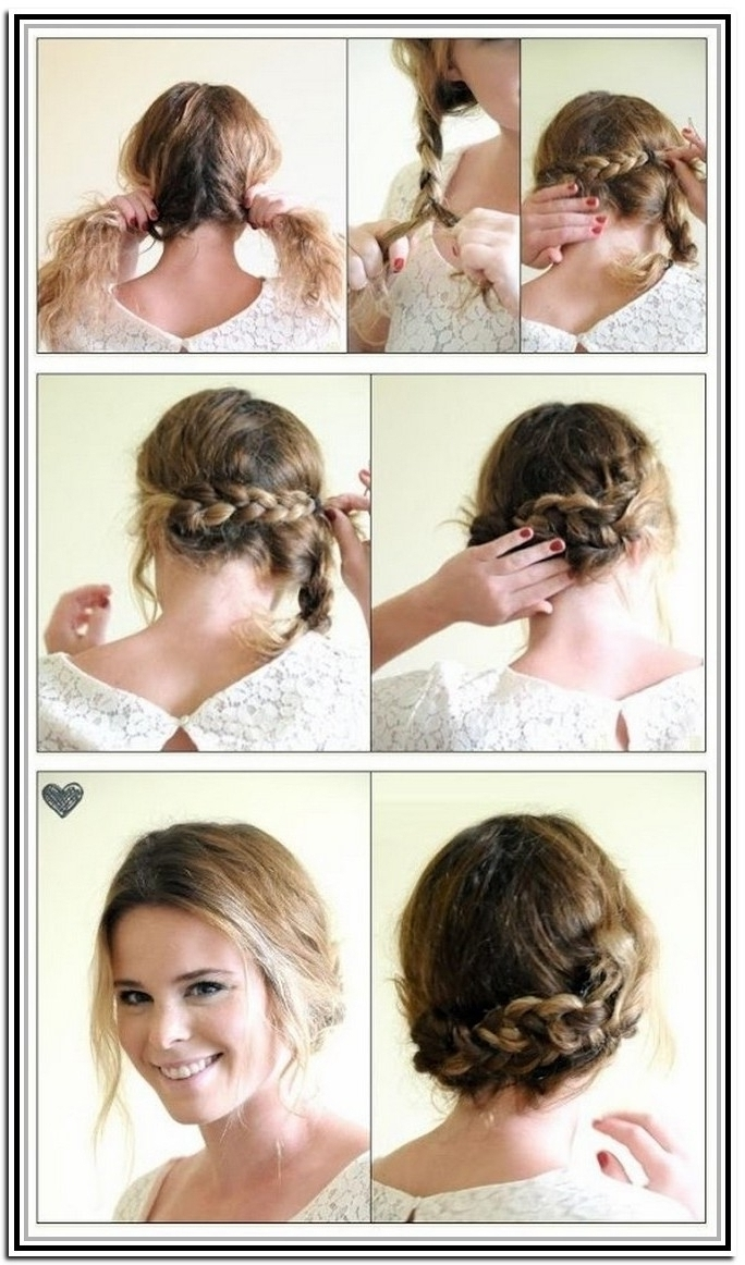 Photo: Hairstyles For Short Hair Updos Easy Wedding Hairstyles For With Most Up To Date Easy Bridal Hairstyles For Short Hair (View 12 of 15)