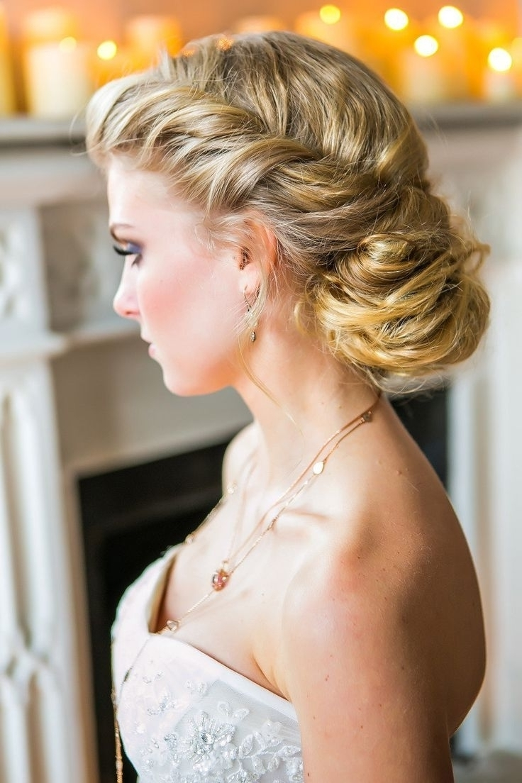 Photo: Loose Side Curly Updo Bridal Hairstyles Curly Hairstyles For In Well Known Buns To The Side Wedding Hairstyles (View 4 of 15)