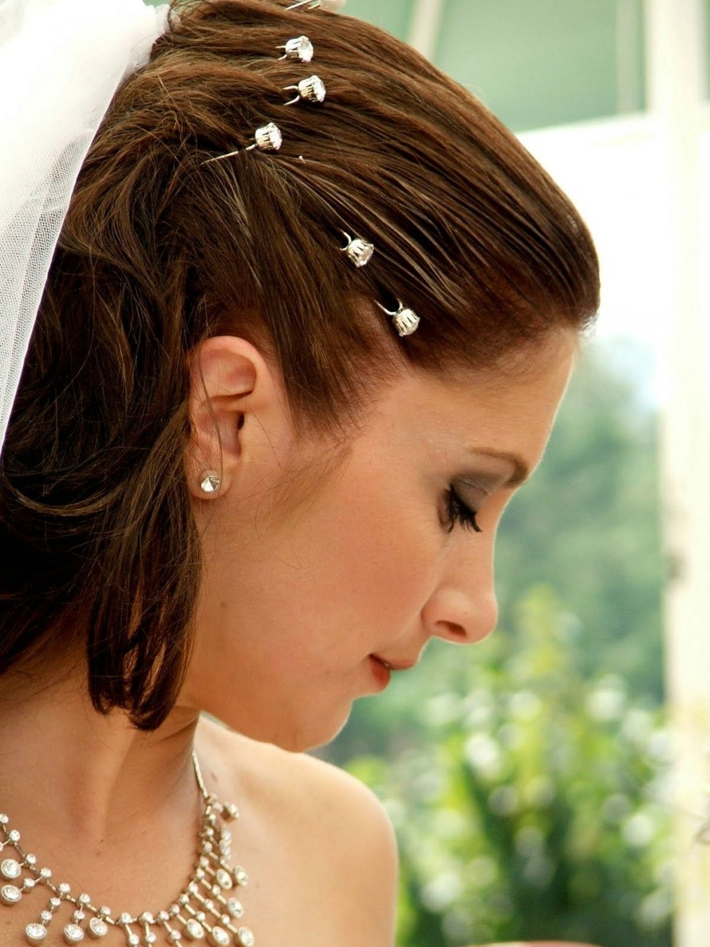 Photo: Wedding Hairstyles For Short Hair With Tiara And Veil With Regard To Newest Wedding Hairstyles For Short Hair With Tiara (View 11 of 15)