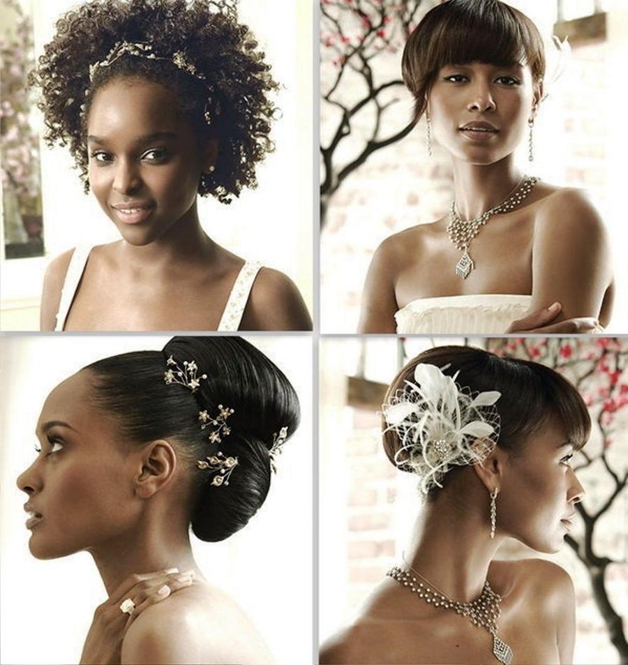 Pictures Of Wedding Hairstyles For Bridesmaids Black Women Inside Latest Wedding Hairstyles For Black Bridesmaids (View 10 of 15)
