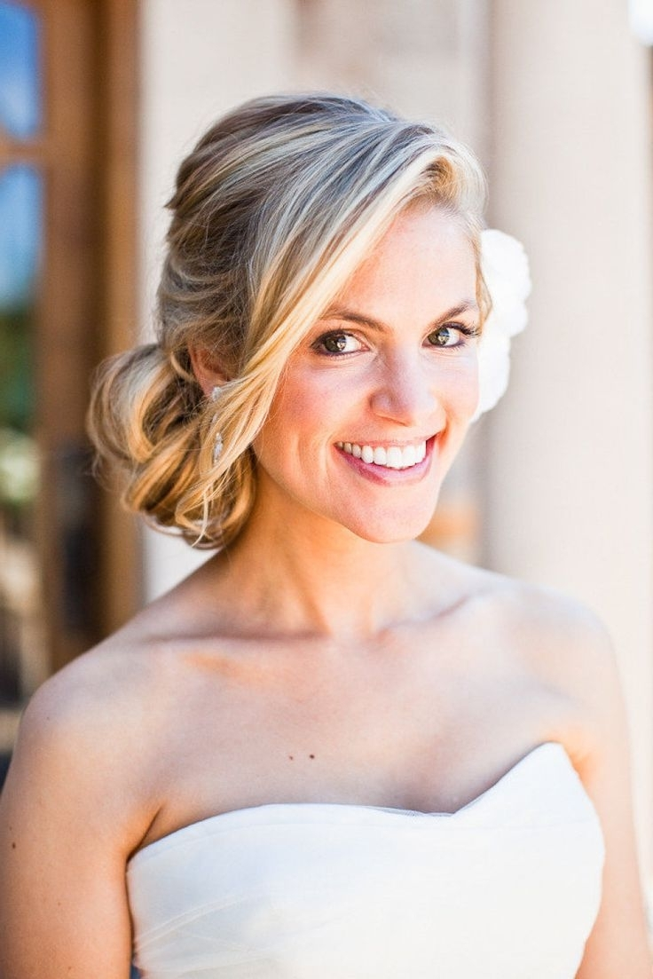Pictures Of Wedding Hairstyles Messy Side Bun Inside Newest Wedding Hairstyles To The Side (View 6 of 15)