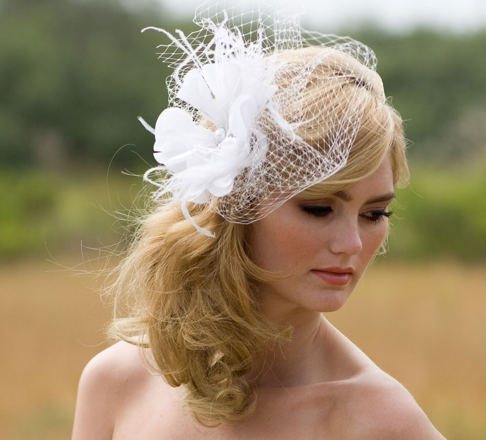 Pictures Of Wedding Hairstyles With Fascinators In Recent Wedding Hairstyles For Long Hair With Fascinator (View 10 of 15)