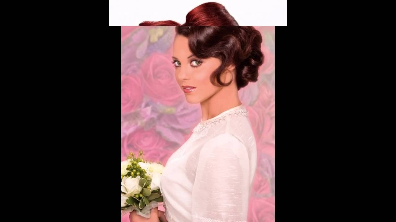 Pin Up Wedding Hairstyles – Youtube Intended For Famous Pin Up Wedding Hairstyles (View 11 of 15)